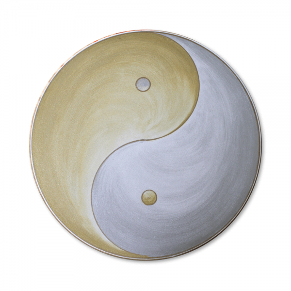 "Wall Mural Yin Yang ""Silver and Gold"" - energy picture hand painted from 11,81"""
