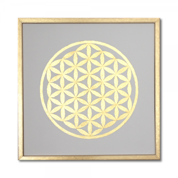 "Mural ""Flower of Life"" 24ct gold leaf - Handmade - from size 50x50cm"
