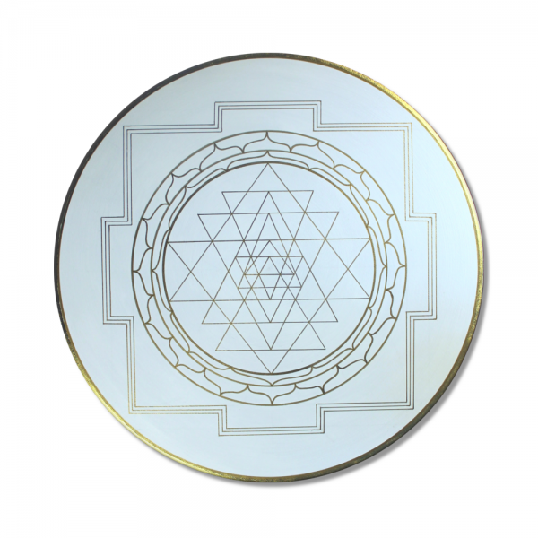 "Mural Sri Yantra Gold ""Yantra for Success"" - energy picture hand painted from 19,69"" round"