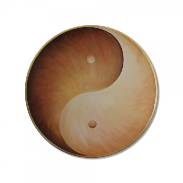 "Wall Mural Yin Yang ""Earth"" - energy picture hand painted from 11,81"""