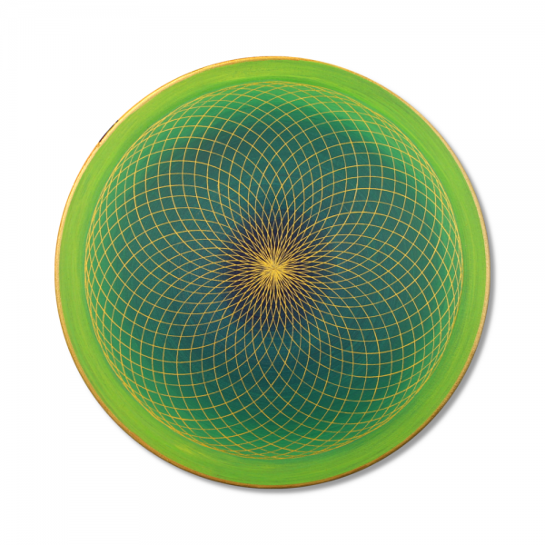 "Wall Mural Torus Gold ""Energy Field of the Heart"" - energy picture hand painted from 11,81"" round"